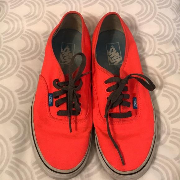 d2d849bfc7 Vans Shoes - Neon Pink Orange Vans - W11   M9.5